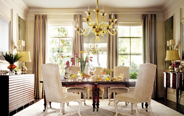Barbara  Barry  5 lighting tricks used by top interior designers BarbaraBarry dining room1