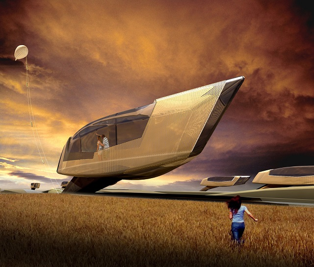 Tornado proof home  See the future: best futuristic styled houses Tornado house 01