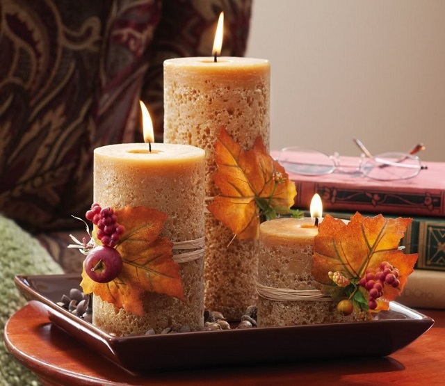 Thanksgiving candles  Even the turkey will like your decor candles thanksgiving decorations