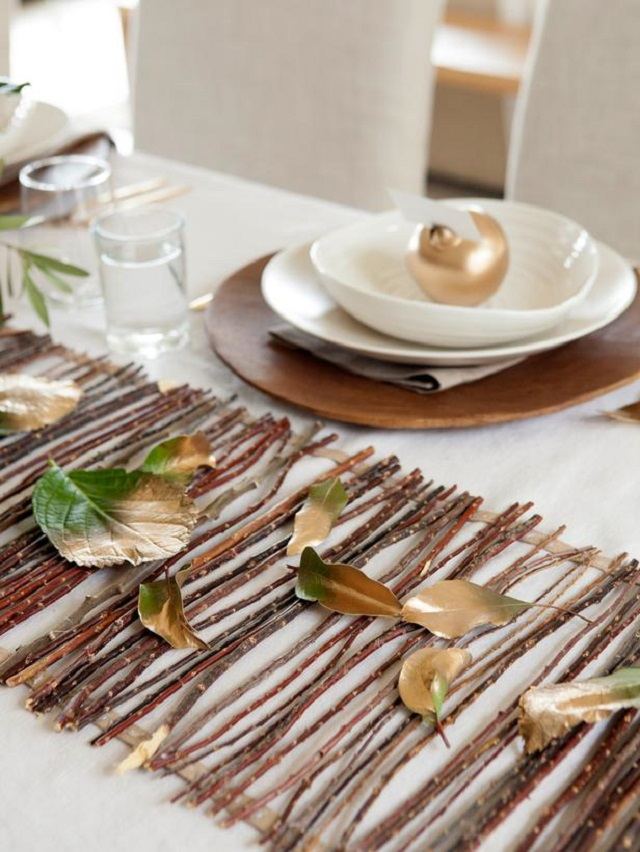 Table runner  Even the turkey will like your decor original Camille Styles Thanksgiving twig runner beauty2  lg