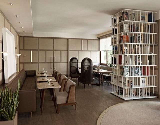 House-Hotel-Nisantasi-  10 creative Bookshelf design ideas House Hotel Nisantasi