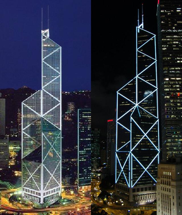 Bank-Of-China-Lighting  Hong Kong's Top 10 : Modern Buildings Bank Of China Lighting