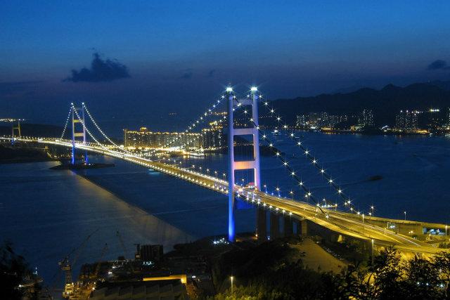 Tsing-Ma-night  Hong Kong's Top 10 : Modern Buildings Tsing Ma night