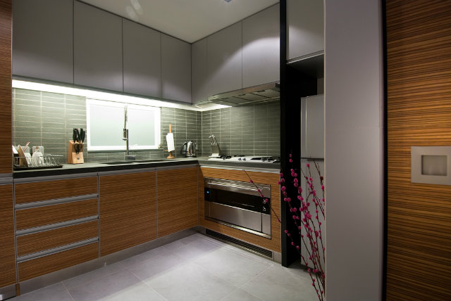 modern-wood-house  Tiny Wooden Apartment in Hong Kong contemprary wood kitchen