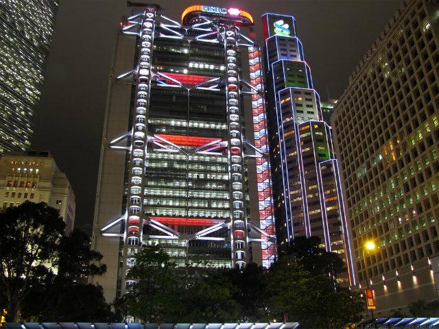 hsbc-building-at-night  Hong Kong's Top 10 : Modern Buildings hsbc building at night