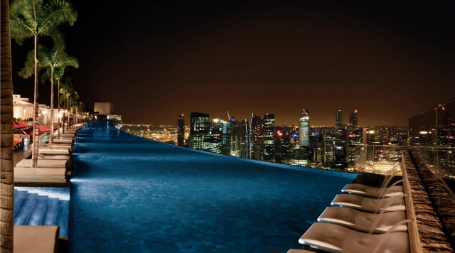 pool-night-view-marina-bay-sands  CL3 Architects infinity pool night view marina bay sands