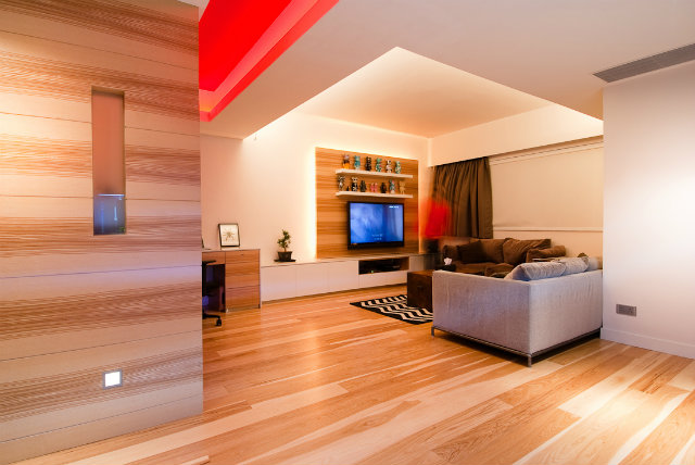 modern-wood-house  Tiny Wooden Apartment in Hong Kong wood living room
