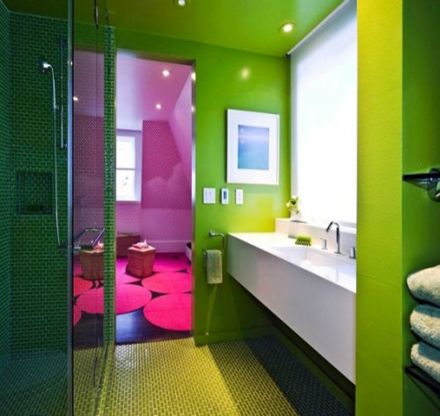 10 colourful ideas for your bathroom asian interior design for Colourful bathroom ideas