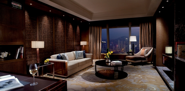 Presidential-suite-at-The-Ritz-Carlton-Hong-Kong-Asian-Interior-Design  5 Most Stunning Hotel Suites in Hong Kong Presidential suite at The Ritz Carlton Hong Kong Asian Interior Design 2