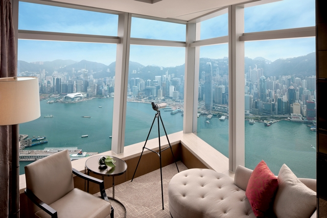 Presidential-suite-at-The-Ritz-Carlton-Hong-Kong-Asian-Interior-Design  5 Most Stunning Hotel Suites in Hong Kong Presidential suite at The Ritz Carlton Hong Kong Asian Interior Design 3