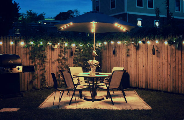 backyard-color-lights-outdoors  How to add light to your outdoor backyard color lights outdoors
