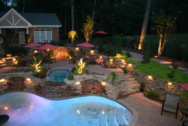 zen-backyard-lights  How to add light to your outdoor zen backyard lights