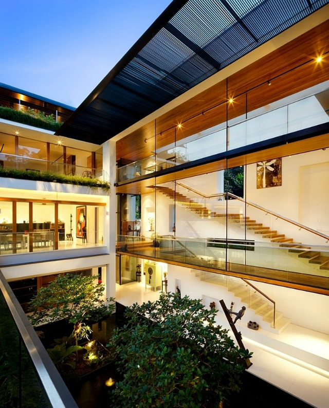 residence-Dalvey-Road  The Spectacular Tropical Singapore Bungalow by Guz Architects residence Dalvey Road 10