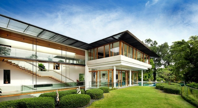 Residence Dalvey Road The Spectacular Tropical Singapore Bungalow By Guz Architects