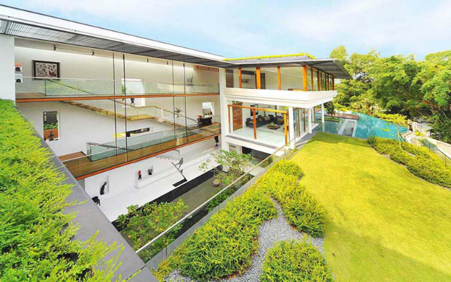 residence-Dalvey-Road  The Spectacular Tropical Singapore Bungalow by Guz Architects residence Dalvey Road 3
