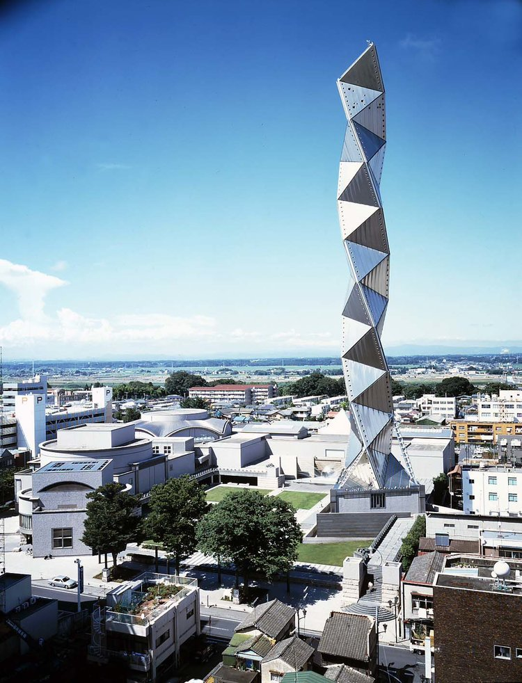 arata_isozaki_art_tower_mito_top 10 japanese architects  Top 10 Japanese Architects arata isozaki art tower mito top 10 japanese architects